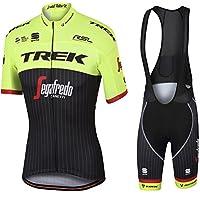 Mens Ciclismo Jersey Team Ciclismo Ropa Jersey Bib Shorts Kit Camisa de secado rápido Ropa al aire libre de la bicicleta , amarillo , XL