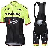 Mens Ciclismo Jersey Team Ciclismo Ropa Jersey Bib Shorts Kit Camisa de secado rápido Ropa al aire libre de la bicicleta , green , XL