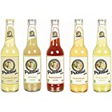 Proviant Berlin Tasting Paket - 5 x 330ml - Zitrone, Orange, Rhabarber, Ingwer-Zitrone, Apfelschorle - Fruchtschorlen