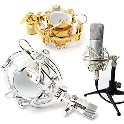 EEvER Mikrofon Shock Mount Halter, Mikrofon Shock Mount Cradle Halter Clip Ständer für Recording Studio -