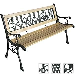 robuste gartenbank sitzbank gartenm bel verschidene designs 122 x 56 x 74cm. Black Bedroom Furniture Sets. Home Design Ideas