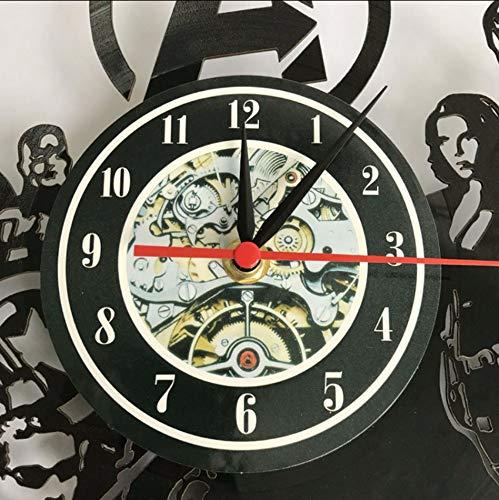 jukunlun Vinyl Cd Rekord Wanduhr Modernes Design Für Jungen Zimmer Ball Spiele Thema Uhren Retro Stil Wand Uhr Wohnkultur Stille 12