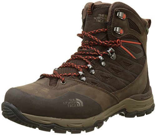 The North Face Hedgehog Trek Gore-Tex, Chaussures de Randonnée Hautes Homme Marron (Brown/tibetan Orange)