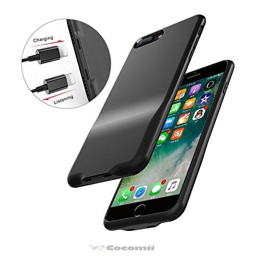 Cocomii Duo Lightning Audio Armor iPhone 8 Plus/7 Plus Hülle NEU [Dual Lightning Jack Adapter Hülle] Anruf+Audio+Ladegerät Laden Und Musik Hören Case Schutzhülle for iPhone 8 Plus/7 Plus (Duo.Black) Duo Shield Armor Case