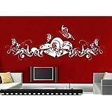 adesivi murali parete tatuaggio Adesivo soggiorno notte bambini Camera Cucina 30 colori per la selezione di amore fata farfalla cuore wsh06(printed sticker 20x8cm)