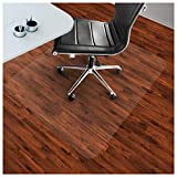 etm Bodenschutzmatte 75x120cm Hartboden | Extra transparent und Rutschfest | optimales Gleitverhalten für Stuhlrollen | Weitere Größen mit und ohne Lippe wählbar