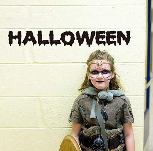 (Your boy-HT Halloween Wandaufkleber Englisch Alphabet Halloween Home Decoration Schwarz Wandtattoo/Klebstoff Kinderzimmer Home Decor Wandtattoo)