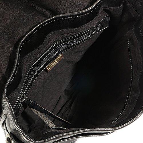5245537e3a ... schwarz Taschendieb Wien borsa a tracolla pelle 25 cm anthrazit, schwarz