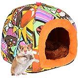 PETLOFT Camas para Mascotas Pequeños, Small Animal Hideaway Cálida Cama de Invierno Jaula Hamster para Animales Pequeños Háms