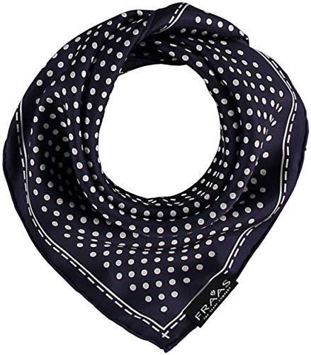 FRAAS Bandana Tuch gepunktet - elegantes Nickituch für Damen - schickes Seidentuch mit Polka Dots - Haarband gepunktet - Dreieckstuch Marine -
