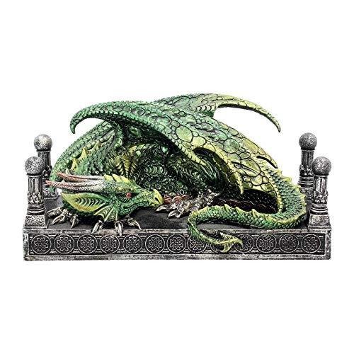 Nemesis Now Figurine de Dragon Vert 13 cm Taille 24 cm