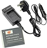 DSTE® NB-6L Rechargeable Li-ion Battery + DC23U Travel and Car Charger Adapter for Canon PowerShot SX170 IS, SX240 HS, SX260 HS, SX270 HS, SX280 HS, SX500 IS, SX510 HS, SX600 HS, D10, D20, ELPH 500 HS, S90, S95, S120, SD770 IS, SD980 IS, SD1200 IS, SD1300 IS, SD3500 IS, SD4000 IS SLR Camera as NB6L CB-2LY