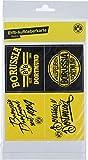 Borussia Dortmund BVB Aufkleber Retro 4 Stück, Folie, Schwarz/gelb, 15 x 20 x 1 cm, 4-Einheiten