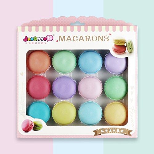QQPOW Crystal mud Macarons Slime Kit Cristal Mud Kit de Arcilla de Caucho de Barro Diy juegos para niños Juguetes hechos a mano 12pcs