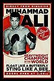 Muhammad Ali Sting Like a bee schild auch blech, metal sign, deko schild,