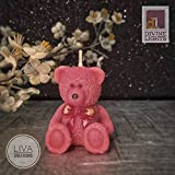 #4: Divine Lights- Teddy Bear Birthday Candle (1.5 inch x 2.5 inch) - Pink