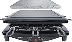 Steba RC 3 Plus Gourmet Raclette, Made in Germany, für 8 Personen, 1450 Watt, schwarz