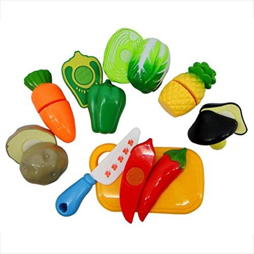 Koly 7pcs Playhouse fruta pequeña tienda utensilios de simulación juguetes para niños,B