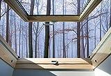 Nebligen Wald 3D-Dachfens... Ansicht