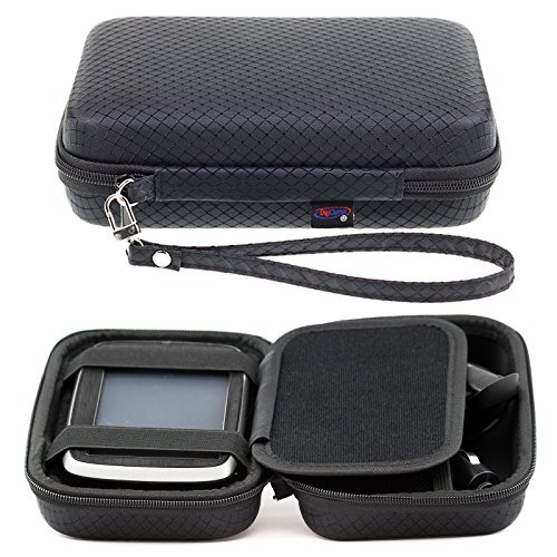 "Black Hard Carry Case For TomTom Go Premium 5"" Basic 5"" Essential 5 Inch Go 5200 5100 520 510 51 Go Professional 5'' Tom Tom BV Go Basic 13 cm 5 Inch GPS Sat Nav With Accessory Storage and Lanyard"