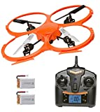 Denver DCH-330 Drone Twin Battery Bundle & Twin Charger Quadcopter with Camera, 2 Flight Speeds & 360 Flip Button