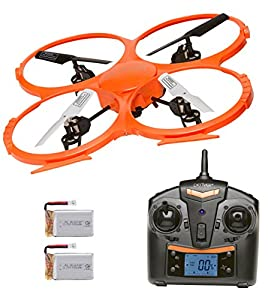 Denver DCH-330 Drone Twin Battery Bundle & Twin Charger Quadcopter with Camera, 2 Flight Speeds & 360 Flip Button from Denver Electronics
