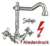 Retro Niederdruck Designer Spültisch Küchen Armatur Küchenarmatur von Sanlingo