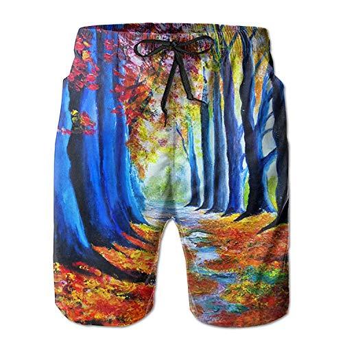 sheho Star Flag Star Flag Lange Strandshorts mit tropischem Aufdruck Schnelltrocknende Mode für Männer Jungen Junioren Badehose mit Taschen, Größe XXL
