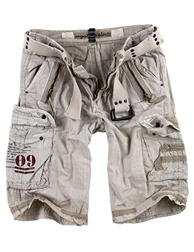 Surplus Royal Herren Cargo Shorts, royalwhite, Größe M
