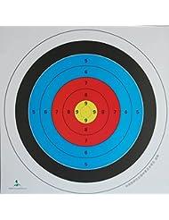 anzer 20piezas Wollowo tiro con arco y ballesta papel Target caras 40x 40cm