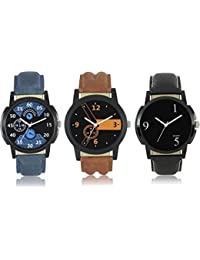 Indium MENS THREE DIFFERENT COLOR WITH DIFFERENT SHAPE WATCH THREE IN ONE BOX