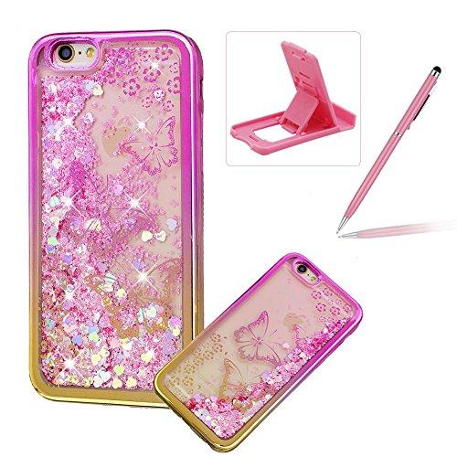 Liquido-trasparente-custodia-per-iPhone-6s-Plus-glitter-cover-in-TPU-per-iPhone-6-Plus-Herzzer-Luxury-colorato-modello-morbido-flessibile-con-telaio-elettrolitica-scorre-Sparkle-Love-Heart-Star-crista