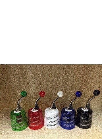 Unbekannt 3 Stück Hansi Glockenverschluss Wein-/Sektflaschenverschluss, bunt