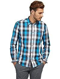 TOM TAILOR Herren Freizeithemd Ray Cool Dobby Check Shirt