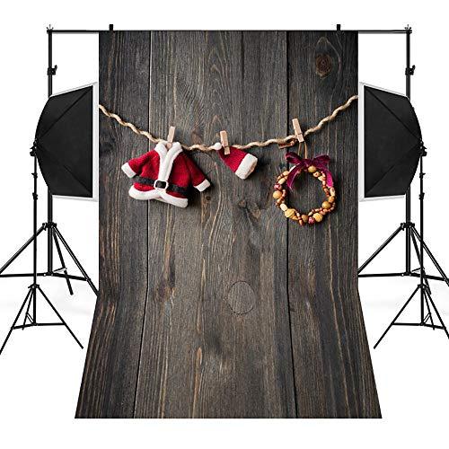 Amphia - Weihnachtshintergrund-Schnee-Vinyl 3x5FT Hintergrund-Fotografie-Studio,Weihnachtsfoto-Studio 3D Studio-Hintergrundtuch 90 * 150cm -