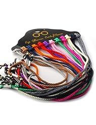 Elandy - Cordón trenzado para gafas (lote de 12 unidades, multicolor)