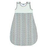 Unisex Baby Schlafsack, Größe 110 (18 Monate - 3 Jahre), Biobaumwolle, Kuschelig und Garantiert Chemikalienfrei, Sweety Fox,Blau Japan Style