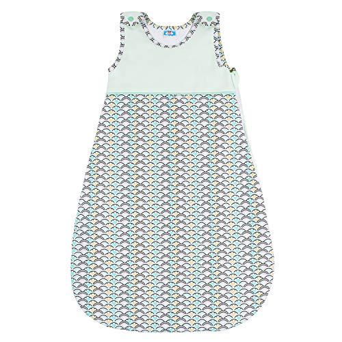 Schlafsack für Jungen und Mädchen, Größe 80 cm (6-12 Monate), 100% Biobaumwolle Babyschlafsack Ohne Chemikalien (OEKO TEX) - Kuscheliger Schlafsack und Hochwertiger Reißverschluss mit Schutz