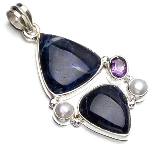 stargems-tm-naturel-bleu-marine-sodalite-riviere-perle-et-amethyste-style-punk-argent-sterling-925-p