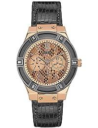 Guess para mujer-reloj cronógrafo de cuarzo cuero W0289L4