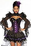 Knappes Kostüm-Set `Burlesque Hexe` Fasching und Karneval Corsage und Rock ohne Bolero A13008, Größe:36;Farbe:lila