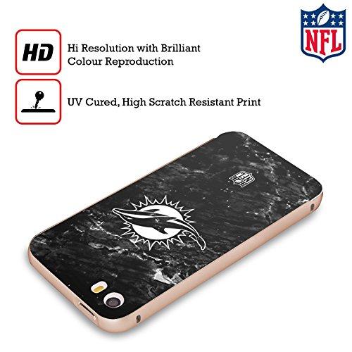Ufficiale NFL Marmo 2017/18 Miami Dolphins Oro Cover Contorno con Bumper in Alluminio per Apple iPhone 5 / 5s / SE Marmo