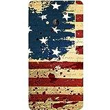 Casotec USA Flag Design Hard Back Case Cover For Microsoft Lumia 540