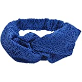 Tonsee Fashion Double Layer Cross Hair Band Headband For Women (Blue)
