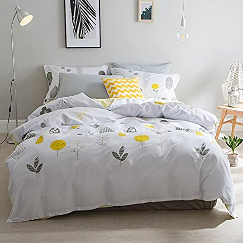 Frischer Stil Betten Sets Flamingo–memorecool Haustierhaus 100% Baumwolle reaktiver Druck alle Jahreszeiten Bettbezug und Bettlaken und Kissenbezüge Twin, Leafs and Flat, Twin