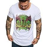 MRULIC Herren T-Shirt mit Muster Bedrucken Motiv Geschenk für Papa oder Geburtstag T-Shirt 3D Drucken Sommer Beiläufige Grafi
