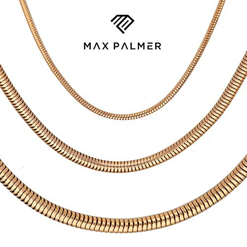 Max Palmer Schlangenkette Edelstahl Rosegold - [43.] Dicke: 1,2mm - Länge: 40cm