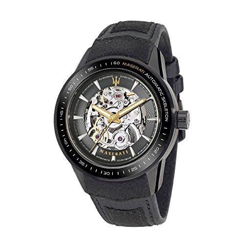 Maserati Men's Watch XL Analogue Automatic Leather R8821110001