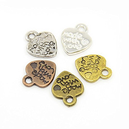 20 grammi Misto Tibetano MiscelaCasuale Ciondoli (Made With Love) - (HA12585) - Charming Beads