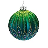 Ribbed Peacock Bauble